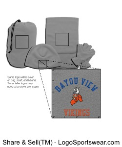 Embroidered 4-In-1 Fleece Gift Set Design Zoom